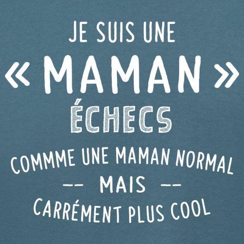 une maman normal échecs - Femme T-Shirt - Bleu - XXL