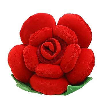 Cojín Flor Rosa Colorida, Cojín para Sofá De Felpa Creativo ...