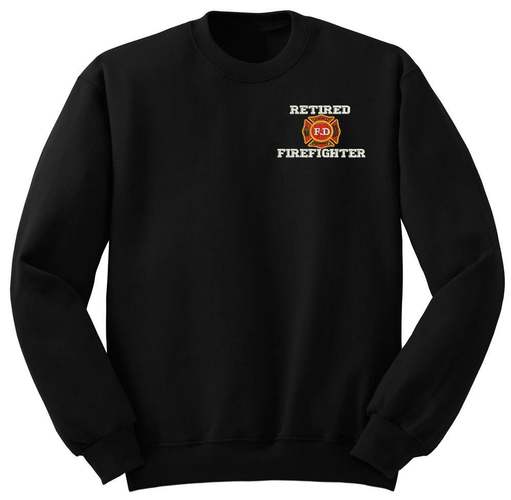 Retired Fire Fighters Military Crew Neck Sweatshirt