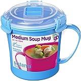 Sistema To Go Collection Microwave Soup Mug, 22 oz, Blue