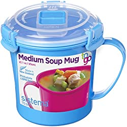 Sistema To Go Collection Microwave Soup Mug, 22.0 oz./0.7 L, Blue
