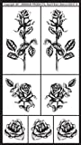 Office Products : Armour Rub N Etch Stencil, Detailed Roses