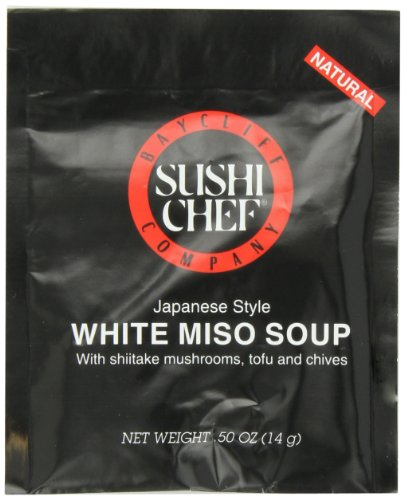 Sushi Chef White Miso Soup Mix, 0.50-Ounce Packets (Pack of 24) (Sushi Sushi Chef Soy)