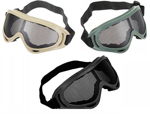 Wide Vision Anti Fog Wire Mesh Goggles Tactical Antiriot Sho