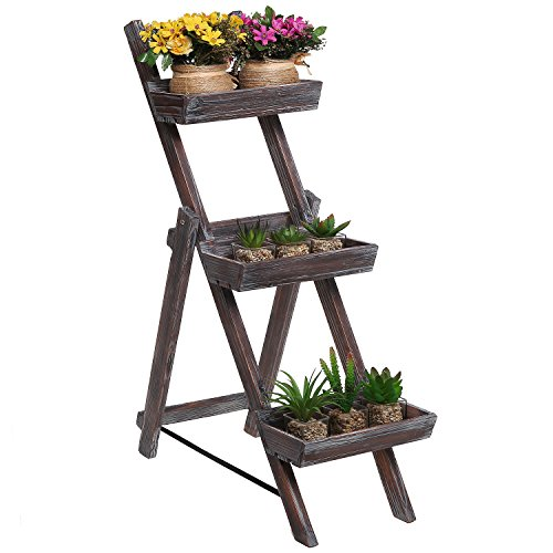 Freestanding Ladder Design Planter Display