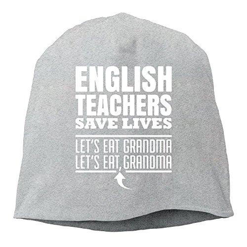 XiaoTing Momens English Teachers Save Lives Fashion Hip-Hop Ash Beanies Skull Cap