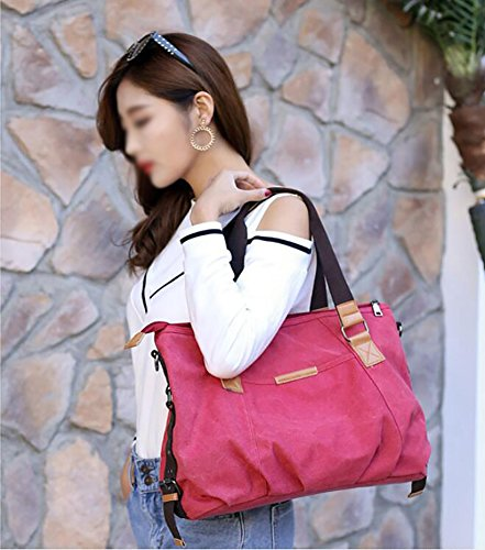 Capacity Leisure Women Package Travel Waterproof Bag Handbag Bag C Large Package Canvas Shoulder TnpTSUq
