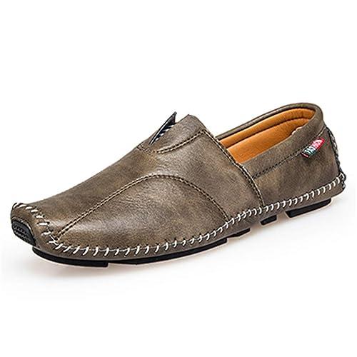 Zapatos De Vestir De Los Holgazanes De Los Hombres Zapatos De Vestir De Los Hombres Respirables Zapatos De ConduccióN Antideslizantes Mocasines Suaves 45: ...