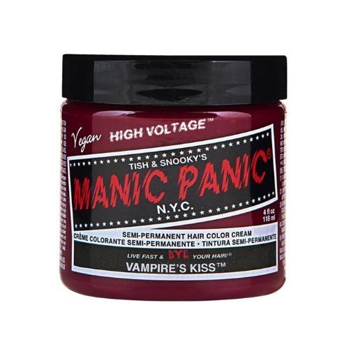 Manic Panic Hair Dye Classic Cream Color Vampire s Kiss Red Semi-Permanent Formula by Tish & Snooky s Manic Panic NYC BEAUTY
