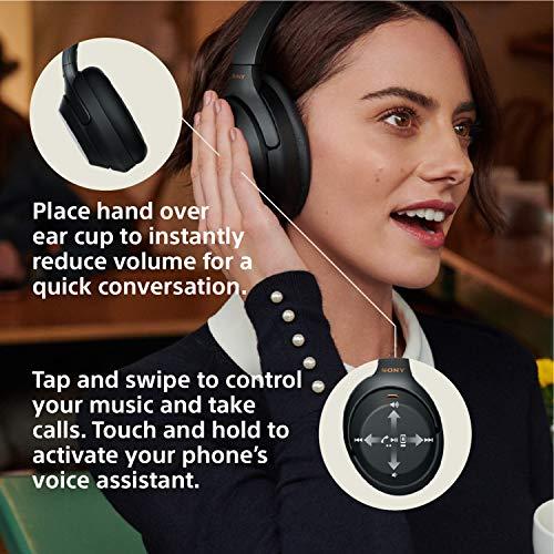 عروض Sony Noise Cancelling Headphones WH1000XM3: Wireless Bluetooth Over the Ear Headphones with Mic and Alexa voice control - Industry Leading Active Noise Cancellation - Black