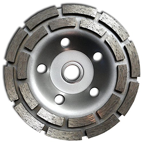 "Integra 5"" Concrete Double Row Diamond Grinding Cup Wheel for Angle Grinder 20 Segs (Cup Diamond Row Grinding Wheel)"