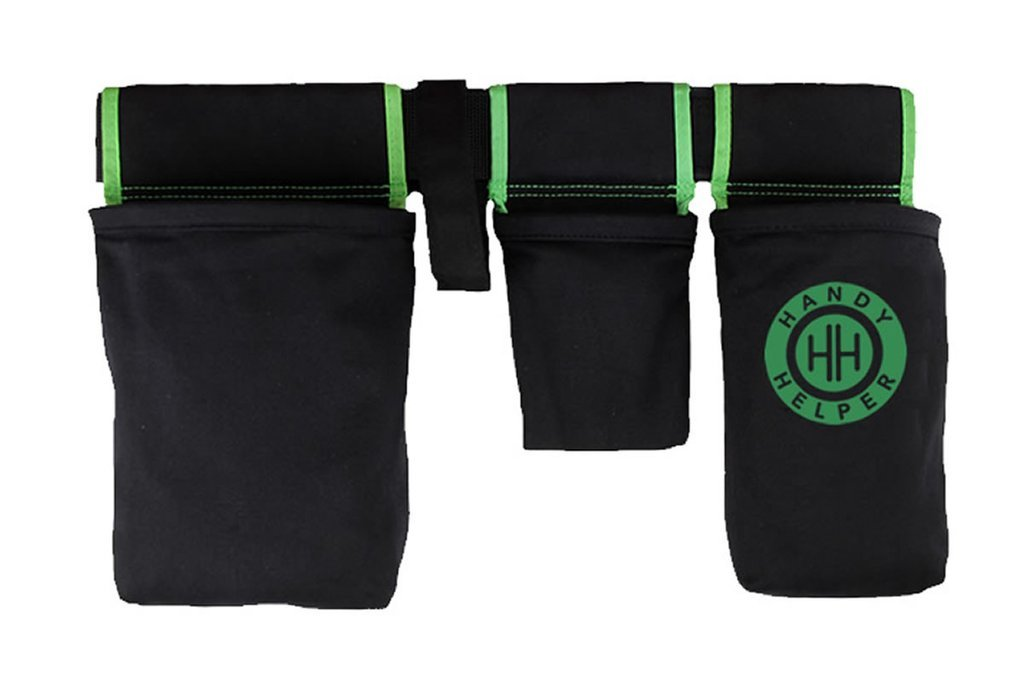 Handy Helper Tool Belt, Organizer, Carrier for Home, Garden, RV - Green Piping