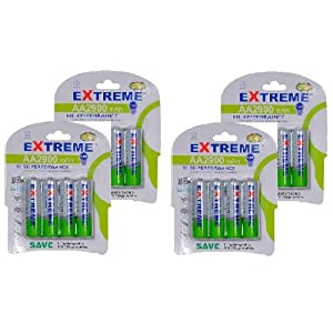 EXTREME 2900 mAh AA Rechargeable batteries 16 pack