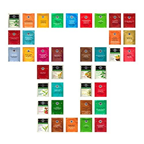 Custom Variety Tea Bags - Sampler Assortment Variety Tea Bags (38 Pack) (Stash Tea Organic Sampler)