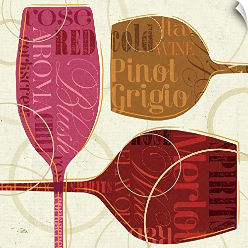 CANVAS ON DEMAND Colorful Wine III Wall Peel Art Print, - Pinot Grigio Blush