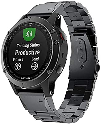 TOPsic Correa Garmin Fenix 5, 22mm Metal Acero Inoxidable ...