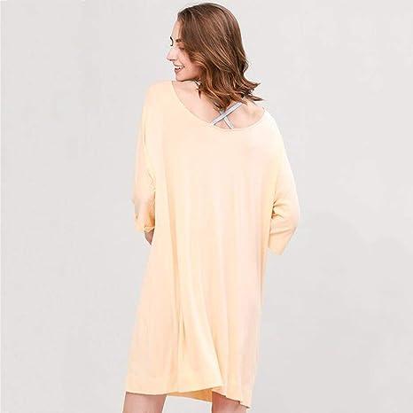 Pajamas Traje de Pijama, algodón con Bolsillos camisón Ms Summer ...