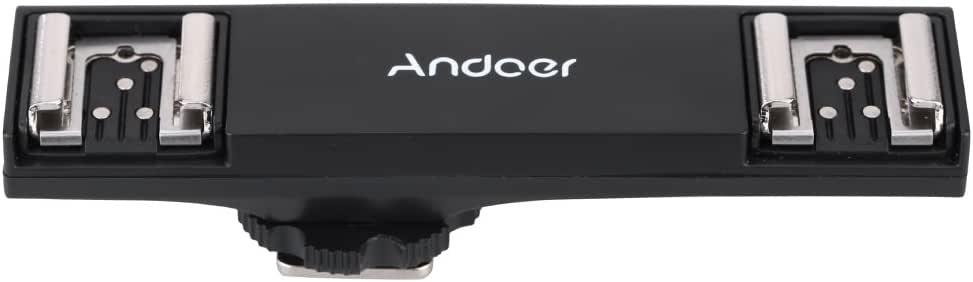 Dual Shoe Flash Speedlite Light Bracket Splitter for Camera Canon DSLR //KT