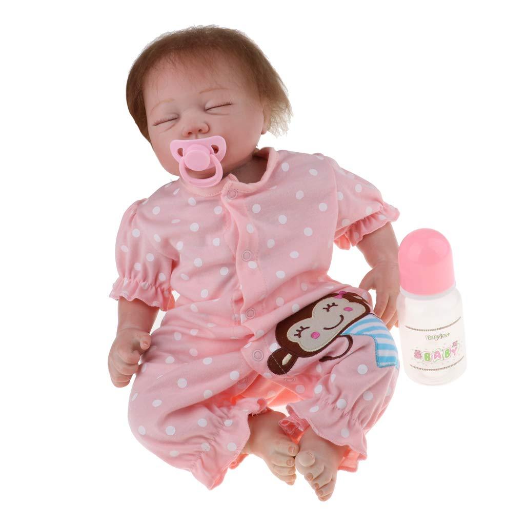 Baoblaze Encantadora Muñeca Niña Neborn de Silicona con Trajes - 50 cm - 3