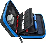 #10: Brendo New Nintendo 3DS XL, 2DS XL and 3DS Carrying Case with 24 Game Cartridge Holders and Large Stylus - Black/Blue