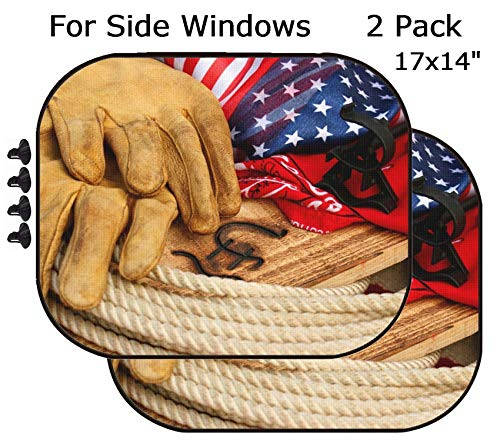 MSD Car Sun Shade - Side Window Sunshade Universal Fit 2 Pack - Block Sun Glare, UV and Heat for Baby and Pet - Image ID: 3456497 Cowboy - Cowboys Fit Universal