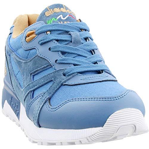 Diadora Mens N9000 Canvas Suede Casual Sneakers, Blue, 8 (Suede Diadora)