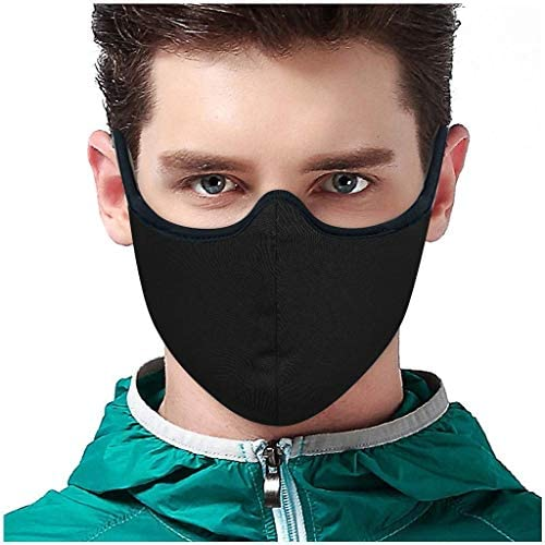 Reusable Face Guard Cloth, Outdoor Mouth Protection, Washable Cotton Face Bandanas with Head Strap