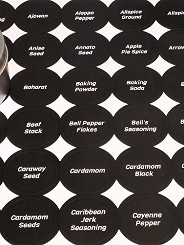 black-spice-labels-15-round-150-printed-in-viga-for-spice-storage-spice-jars