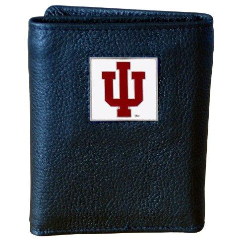 Hoosiers Indiana Metal (NCAA Indiana Hoosiers Genuine Leather Tri-fold Wallet)