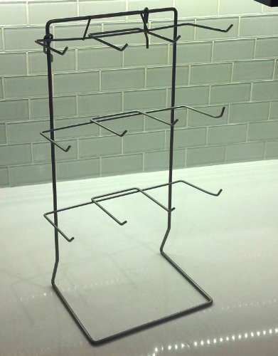 Countertop Display Stand - One 12 Single Peg Hook Counter Top Display Rack (Holds 3