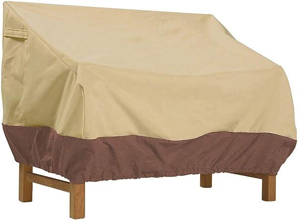 Funda Protectora para Silla, 420D Oxford Balancín Funda Protectora para sofá de 2/3 plazas Funda de Banco para Exterior Muebles de Jardín,Beige,193 * 83 * 84cm: Amazon.es: Hogar