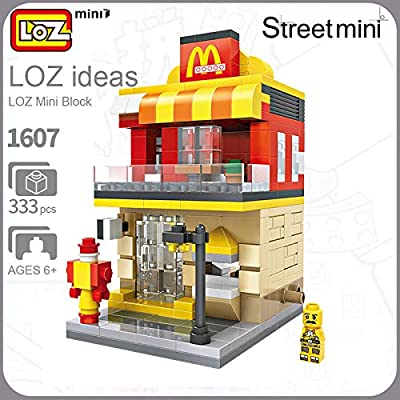 LOZ McDonald's Shop 16007 Mini Construction Building Micro Blocks Compatible Nano Brick Headz Chistmas/Bithday Gifts for Kids DIY Figures Assemble Educational Toys Model Kits: Toys & Games