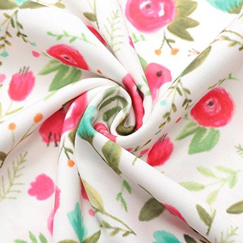13Years Chicolife Flowers casuali neonata estate Ragazze senza del Abito Sundress 3 Abiti floreale bambino maniche Bq4BCOw