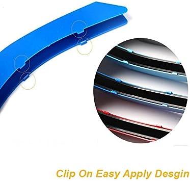 M-COLORED KIDNEY GRILLE INSERT TRIM SPORT STRIPS 09-12 BMW E90 E91 3 SERIES LCI 325i 328i 330i 335i 12 beam bars