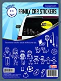 stick figure decals - Enjoy It Traditional Family Car Stickers Stick Figure Family, 20 pieces, Outdoor Rated Vinyl Sticker Decals