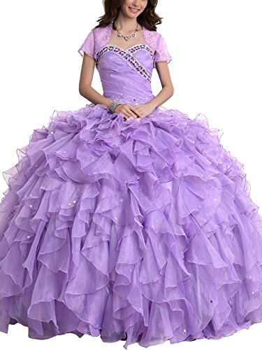 SDRESS Women's Rhinestones Sweetheart Ball Gown Tulle Qui...