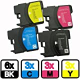 AA+inks Compatible Ink Cartridges Replacement for Brother LC980 LC1100 for DCP 375CW 195C 145C 197C Printers (15PK)