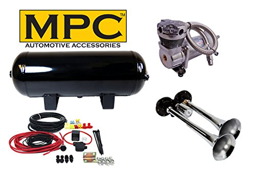 MPC Train Air Horn Kit; Two Huge Trumpets 15