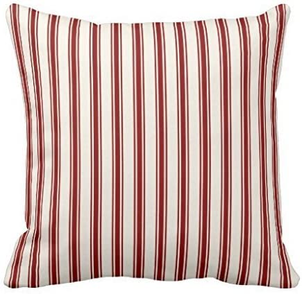 "16/"" Navy Blue /& Cream Striped Ticking Cushion Cover"