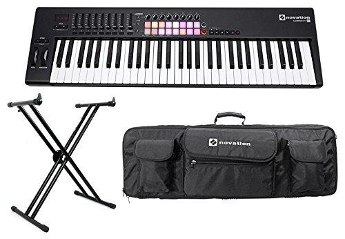 Novation LAUNCHKEY 61 MK2 MK11 61-Key USB/MIDI Controller Keyboard+Stand+Case
