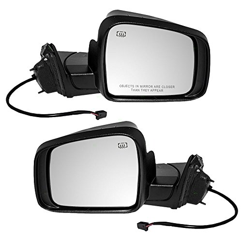 Driver and Passenger Power Side View Mirrors Heated Manual Folding 11-18 Jeep Grand Cherokee Replaces 5SG19TZZAF 5SG18AXRAF CH1320330 CH1321330 - Jeep Cherokee Manual Mirror