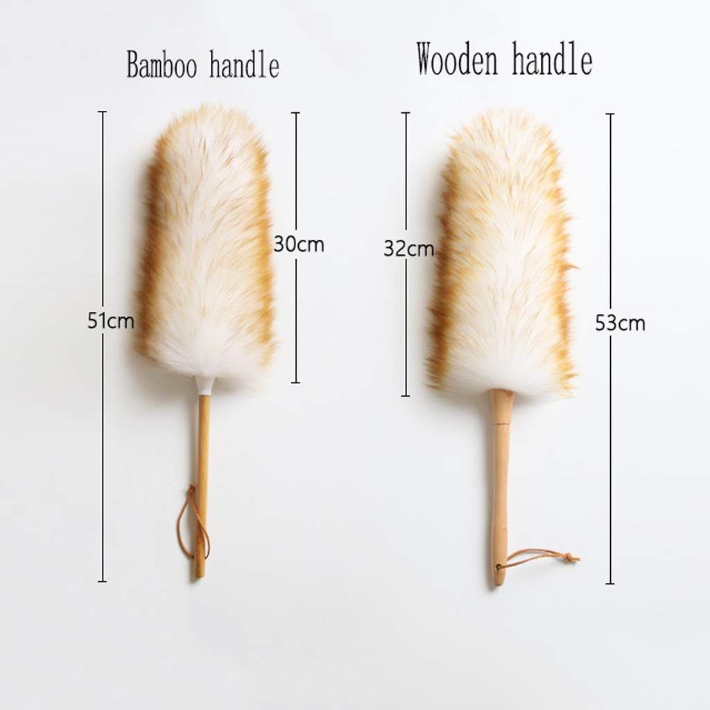 ZHANGY Makeup/Role Playing Accessories/Props Dust Scorpion Feather Cleaning The Donkey Can be Used as a Toy,Bamboo Handle by ZHANGY (Image #2)