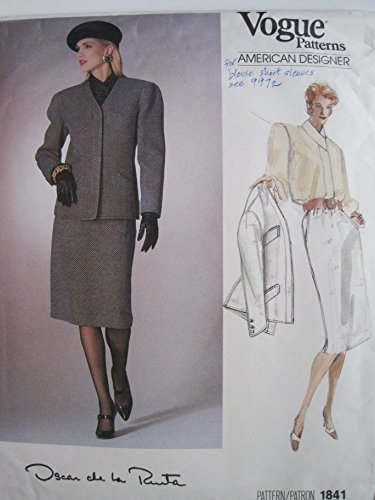 Vogue Pattern 1841 American Designer Oscar de la Renta Misses' Jacket, Skirt & Blouse Size 14 (Oscar An Oscar De La Renta Company)