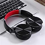 US-PopTrading Foldable Headset,Portable Over Ear Binaural Stereo Headphone, 40mm Speaker Wireless Bluetooth Sport Music Player Bass Effect Earphone for Outdoor Travel Home Office
