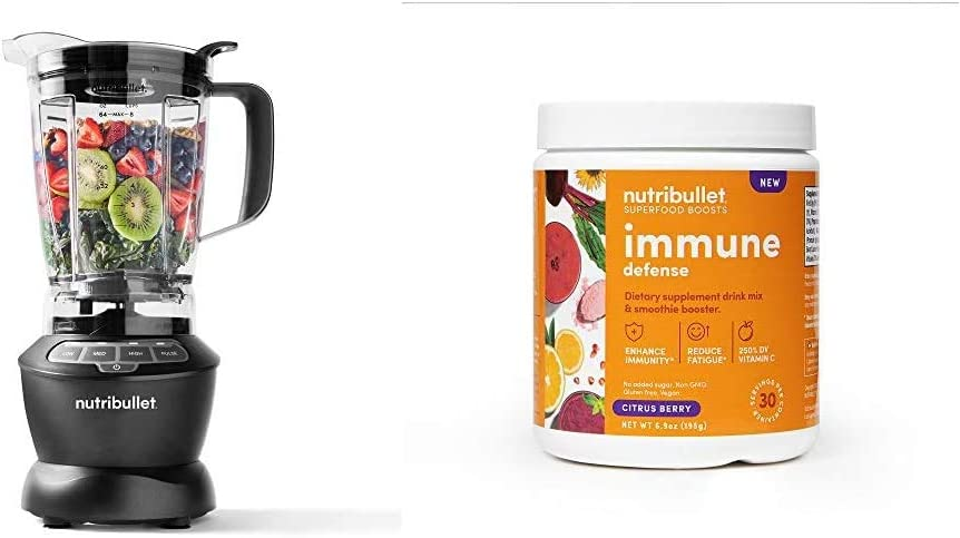NutriBullet ZNBF30400Z Blender with SuperFood Immune Defense Boosts- 30 Servings