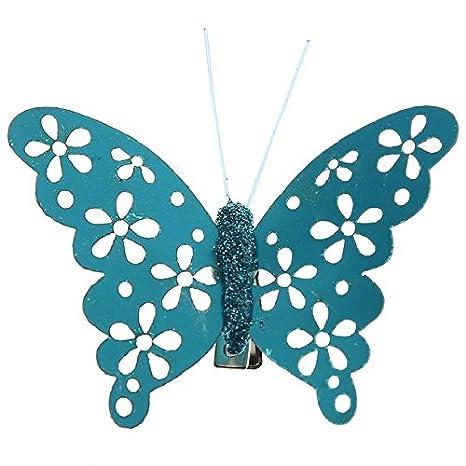 Pinza de depilar 4 unidades, diseño de mariposa, color azul metalizado: Amazon.es: Hogar