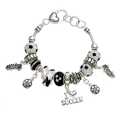 PammyJ Soccer Bracelet - Soccer Gift Charm Jewelry -