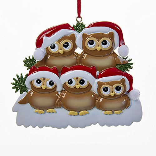 Kurt Adler Christmas Owl Family of 5 Ornament