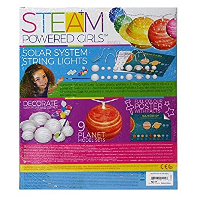 4M 3825 Steam Powered Girls Solar System String Lights Toy, White: Toys & Games