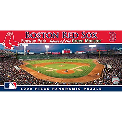 MasterPieces MLB Boston Red Sox Stadium Panoramic Jigsaw Puzzle,Fenway Park, Home of the Green Monster, 1000 Pieces: Toys & Games